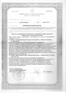 Лицензия Каратузская РБ от 27.03.2014г.0011