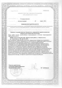 Лицензия Каратузская РБ от 27.03.2014г.0017